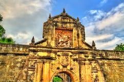 Port av fortSantiago i Intramuros - Manila, Filippinerna royaltyfri foto