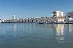 Port av Gandia, Spanien royaltyfri fotografi