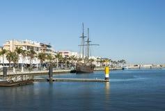Port av Gandia, Spanien royaltyfria foton