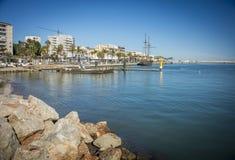 Port av Gandia, Spanien arkivbild