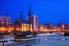 Port av Gdansk Fotografering för Bildbyråer