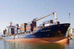 Port av Genoa, Italien Arkivfoto