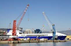 Port av Genoa, Italien Fotografering för Bildbyråer