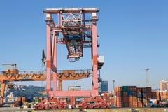 Port av Genoa, Italien Arkivbilder