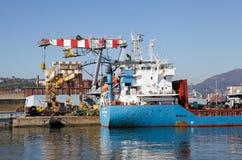 Port av Genoa, Italien Arkivfoton