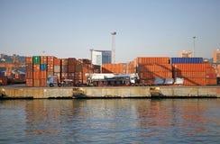Port av Genoa, Italien Royaltyfri Foto