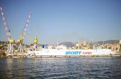 Port av Genoa, Italien Arkivbild