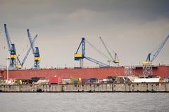 Port av Hamburg royaltyfri bild