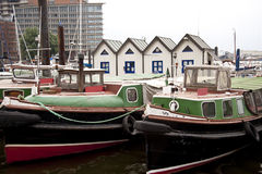 Port av Hamburg arkivbild