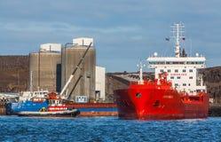 Port av Helguvik, Island Fotografering för Bildbyråer