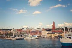 Port av Helsingborg Arkivbilder