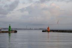 Port av Helsingor i Danmark royaltyfri foto