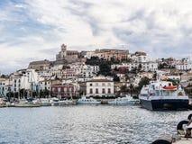 Port av Ibiza Arkivfoton