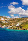 Port av Ios, Grekland arkivfoton
