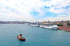 Port av Istanbul Royaltyfria Bilder