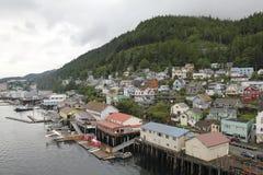 Port av Ketchikan i Alaska Arkivbilder