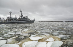 Port av Kronstadt Ryssland Arkivfoton