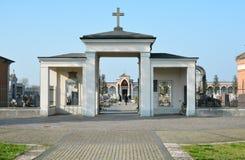 Port av kyrkogården Arkivbilder