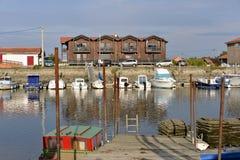 Port av La Teste i Frankrike Arkivbilder