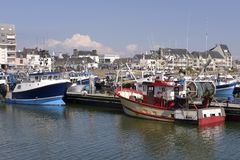 Port av La Turballe i Frankrike Fotografering för Bildbyråer