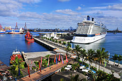 Port av Las Palmas de Gran Canaria, Spanien Royaltyfri Bild