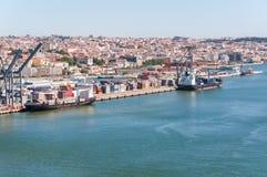 Port av Lissabon i Portugal arkivbild