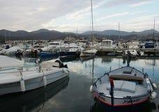 Port av Llança fotografering för bildbyråer
