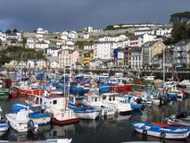 Port av Luarca Royaltyfria Bilder