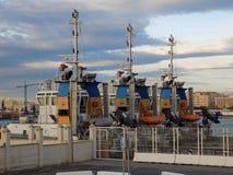 Port av MÃ-¡ laga-Bogserbåt-Andalusia-Spanien Fotografering för Bildbyråer