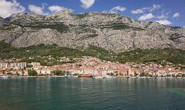 Port av Makarska Arkivbilder