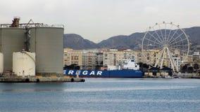 Port av Malaga-Andalusia-Europa Royaltyfri Bild