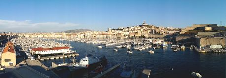 Port av Marseille Arkivbild