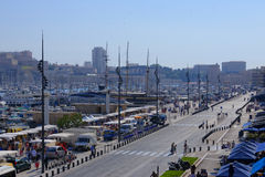 Port av Marseille Arkivfoton