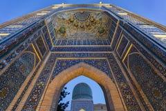Port av mausoleet av Tamerlane Royaltyfri Fotografi