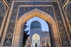 Port av mausoleet av Tamerlane Fotografering för Bildbyråer
