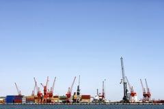 Port av Mersin, Turkiet Arkivfoto