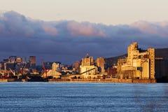 Port av Montreal solsken Arkivbilder