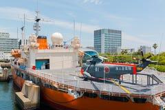 Port av Nagoya som lokaliseras i Ise Bay, är den största och mest upptagna ten Arkivbilder
