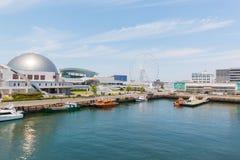 Port av Nagoya som lokaliseras i Ise Bay, är den största och mest upptagna ten Fotografering för Bildbyråer