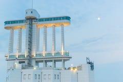 Port av Nagoya som lokaliseras i Ise Bay, är den största och mest upptagna ten Royaltyfri Foto
