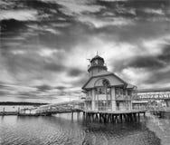 Port av Nanaimo på en molnig sommarafton, Vancouver ö arkivbilder