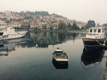Port av Ohrid Royaltyfria Foton