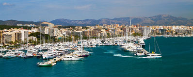 Port av Palma de Mallorca Royaltyfri Fotografi