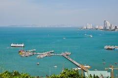 Port av Pattaya Arkivbild