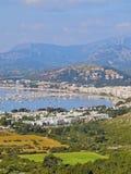 Port av Pollenca på Majorca Arkivfoton