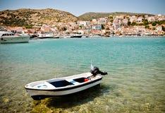 Port av Pythagorion, Samos, Grekland Arkivfoto