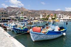 Port av Rethymno i Kreta Arkivbilder