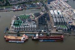 Port av Rotterdam Arkivbilder
