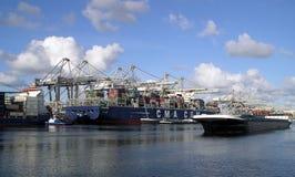 Port av Rotterdam - Nederländerna Arkivfoto