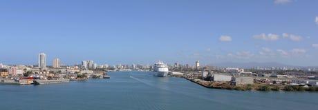 Port av San Juan, Puerto Rico Arkivfoto